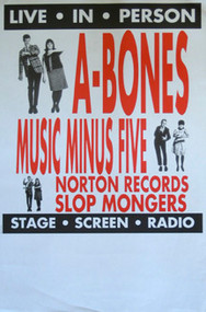 A-BONES MUSIC MINUS FIVE POSTER