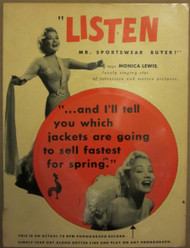 78 RPM FLEXI-DISC MONICA LEWIS! 1954