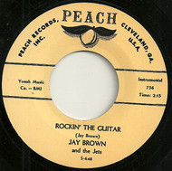 JAY BROWN AND THE JETS - ROCKIN' THE GUITAR (PEACH)