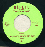 SUN RA / WALT DUNN - WHEN YOU'RE IN LOVE THIS WAY (REPETO)