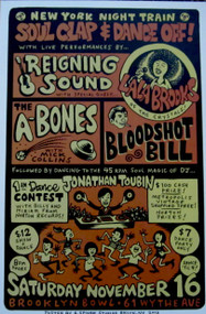 LA LA BROOKS REIGNING SOUND A-BONES BLOODSHOT BILL POSTER (2013)
