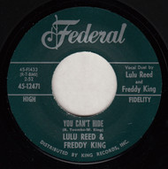 LULA REED AND FREDDY KING - YOU CAN'T HIDE