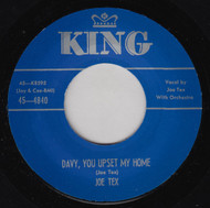 JOE TEX - DAVY YOU UPSET MY HOME
