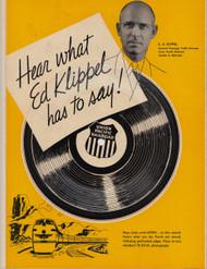 UNION PACIFIC RAILROAD ED KIPPEL 78 RPM FLEXI