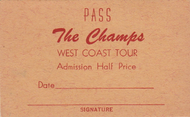THE CHAMPS WEST COAST TOUR PASS