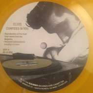 "ELVIS PRESLEY - THE TRUTH ABOUT ME (10"") YELLOW VINYL"