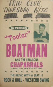 TOOTER BOATMAN AND THE FABULOUS CHAPARRALS POSTER