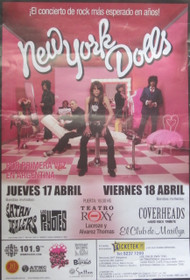 NEW YORK DOLLS CONCERT POSTER
