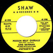 JUNE BATEMAN - POSSUM BELLY OVERALLS