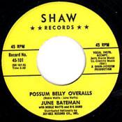 JUNE BATEMAN - POSSUM BELLY OVERALLS