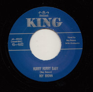 ROY BROWN - HURRY HURRY BABY