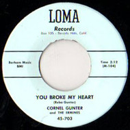 CORNEL GUNTER AND ERMINES - YOU BROKE MY HEART