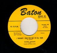 MARIE KNIGHT - I THOUGHT I TOLD YOU NOT TO TELL THEM