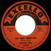 LIGHTNIN' SLIM - JUST MADE TWENTY ONE (45)