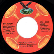 LULA REED - SICK AND TIRED/BUMP ON A LOG