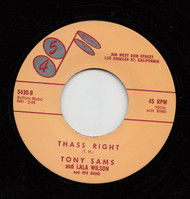 TONY SAMS - THASS RIGHT