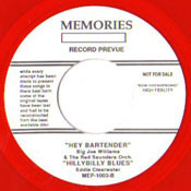BIG JOE WILLIAMS - HEY BARTENDER EP