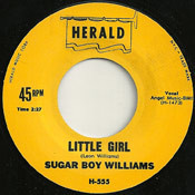 SUGAR BOY WILLIAMS - LITTLE GIRL