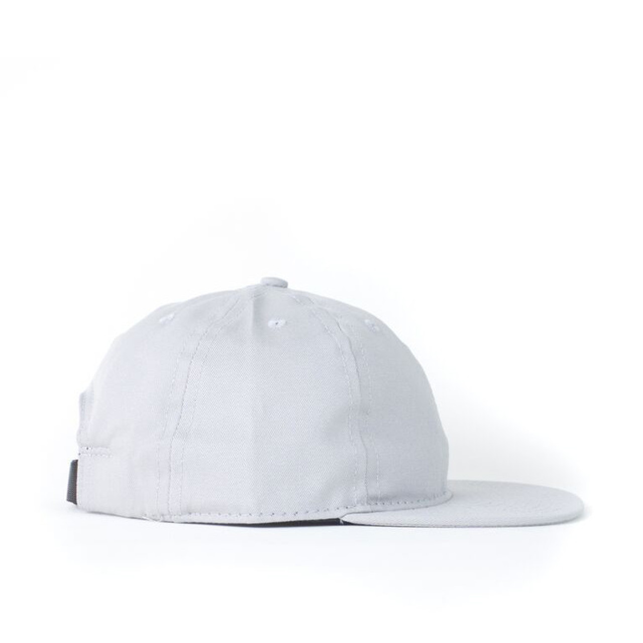 Grey Solid Twill Ball Cap