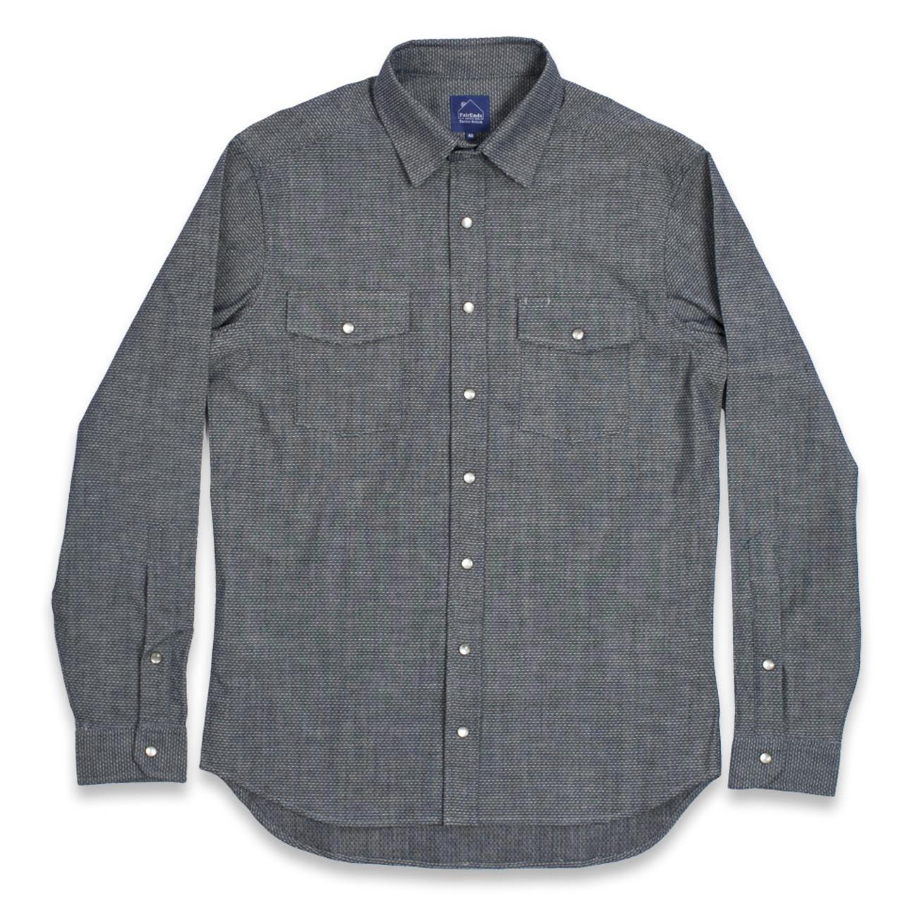 Indigo Jaquard Chambray Glacier Shirt