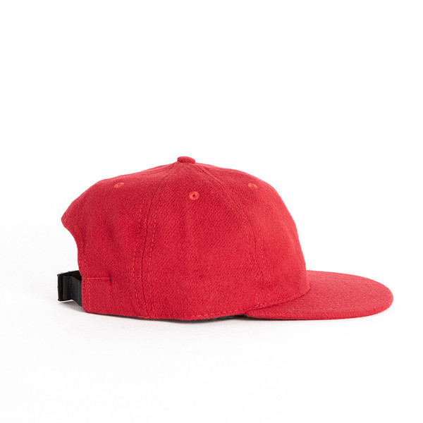 Red Solid Twill Ball Cap