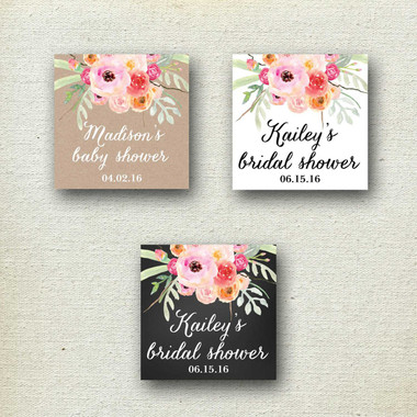 Large Gable Wedding Welcome Boxes - Bouquet Label
