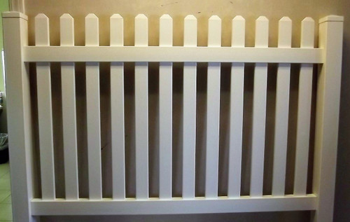pvc baby bed pvc 6 x 4 basket weave single fence panelsection with one post