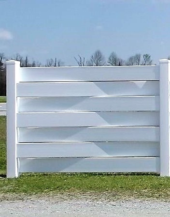 Pvc 6 X 4 Basket Weave Single Fence Panel Section With