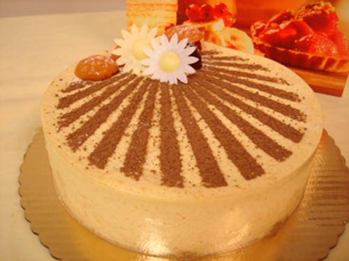 Delicious apricot mousse cake!