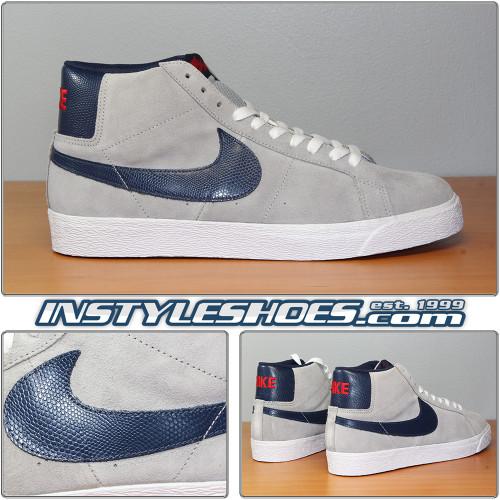 Nike Blazer SB Grey Navy 310801-003