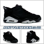 Air Jordan 6 Low Black Metallic Silver 304401-003