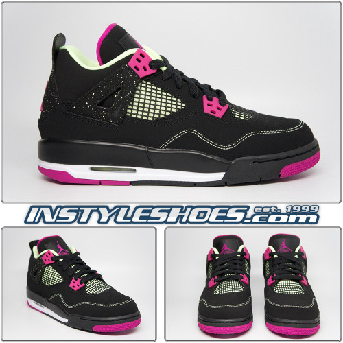 Air Jordan 4 GS Black Fuchsia 705344-027
