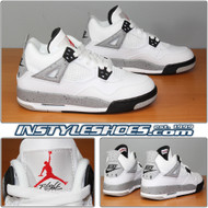 Nike Air Jordan 4 OG GS White Cement 836016-192 Grade School