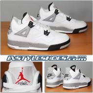 Nike Air Jordan 4 OG GS White Cement 836016-192 Grade School