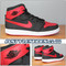 Air Jordan 1 KO AJKO Black Varsity Red 638471-001