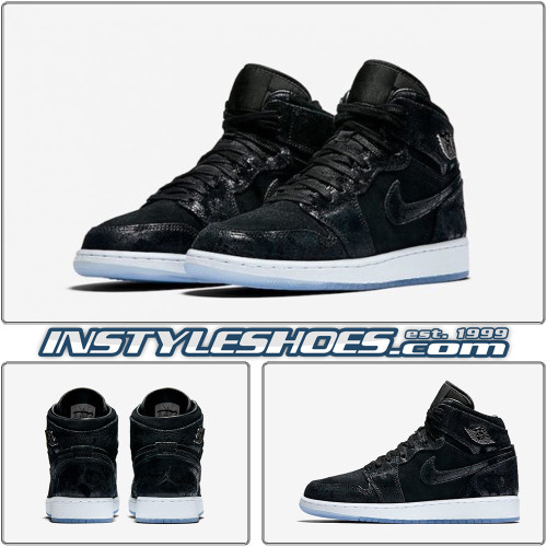 Air Jordan 1 GS Heiress Black Suede 832596-001