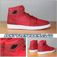 Air Jordan 1 High Red Elephant Print 838850-600