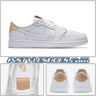 Air Jordan 1 Low White Vachetta Tan 905136-100