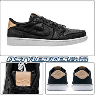 Air Jordan 1 Low Black Vachetta 905136-010