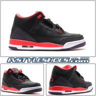 Air Jordan 3 GS Black Crimson 398614 005