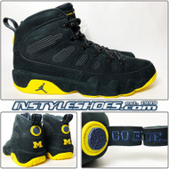Nike Air Jordan IX 9 PE Michigan