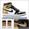 Air Jordan Retro 1 High OG NRG Color: Black/Black-Metallic Gold-White Style Code: 861428-007 Release Date: February 16, 2018 Gold Toe Top 3