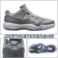 Air Jordan 11 Low GS Cool Grey 528896-003