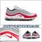 Nike Air Max 97 Pure Platinum Silver University Red Gym 921826-009