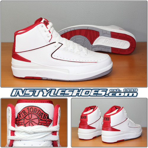 Air Jordan 2 White Varsity Red 385475-102