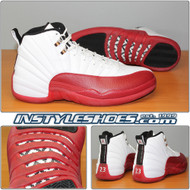 Air Jordan 12 White Varsity Red 130690-110 2009 Retro