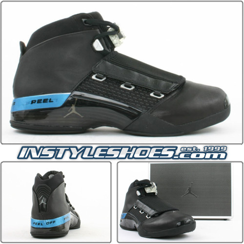 Air Jordan 17 XVII Black Metallic Silver 302720-041
