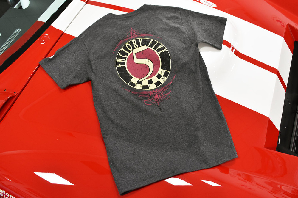 Factory Five 50s Style Logo T-Shirt - Charcoal