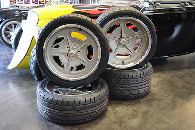 """18"""" and 20"""" Bonneville Style Wheels & Tire Package"""