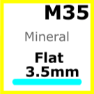 Glass, Flat 3.5mm (M35)